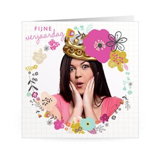 Fotokaart verjaardag